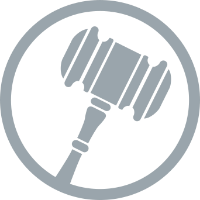 gavel circle icon