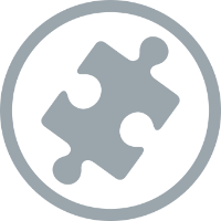 puzzle circle icon